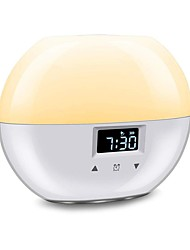 cheap -Upgraded Smart Wake-up Light 9 Colors Sunrise Alarm Clock Suitable for Children Sunrise Simulation Sleep Mode Night Light