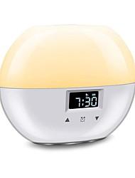 Недорогие -модернизированный умный свет пробуждения 9 цветов будильник восхода солнца подходит для детей моделирование восхода солнца спящий режим ночной свет