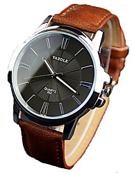 cheap -Men's Dress Watch Quartz Genuine Leather Black / Brown 30 m Water Resistant / Waterproof Chronograph New Design Analog New Arrival Minimalist - Black Black / White White / Brown One Year Battery Life
