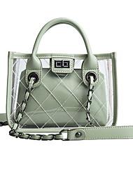cheap -Women's PU Crossbody Bag Solid Color Green
