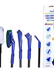 cheap -Aquarium Fish Cleaning Brush Set Fish Bowl Portable Cleaning Care Easy to Install Plastic 1pc