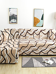 cheap -Linellae Print Dustproof Stretch Slipcovers Stretch Sofa Cover Super Soft Fabric Couch Cover (You will Get 1 Throw Pillow Case as free Gift)