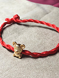cheap -Women's Loom Bracelet Pendant Bracelet Braided Mouse Precious Vintage Fashion Copper Bracelet Jewelry Red For Gift Daily Street Work / Gold Plated