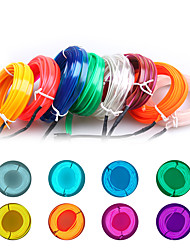 cheap -5M/lot Flexible Car Interior Lighting LED Strip Garland Wire Rope Tube Line Neon Light With USB Drive controller 8 colors 12v