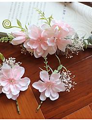 Недорогие -Ткань Расчески с Цветы 3 предмета Свадьба / Вечеринка / ужин Заставка
