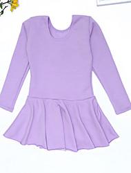 Недорогие -Детская одежда для танцев Платье Комбинация материалов Девочки Выступление На каждый день Длинный рукав Полиэфир