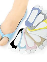 abordables -1 paire Femme Chaussettes Standard Couleur Pleine Chaud Style Simple Coton EU36-EU42