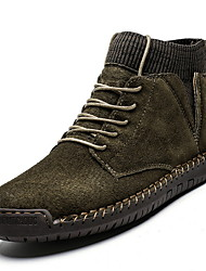 cheap -Men's Comfort Shoes Suede Winter Boots Running Shoes Black / Brown / Army Green