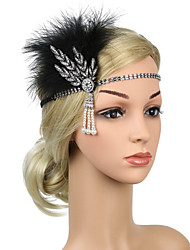 cheap -Handmade Boho Ostrich Fur / Rhinestone / Alloy Hair Accessory with Tassel / Chain / Metal 1 Piece Party / Evening / Carnival Headpiece