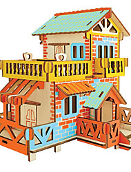 cheap -3D Puzzle Model Building Kit Wooden Model House Fun Wood 1 pcs Classic Kid's Toy Gift