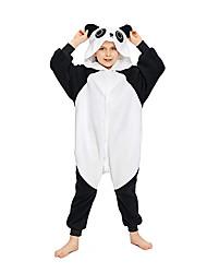cheap -Kid's Kigurumi Pajamas Panda Animal Onesie Pajamas Polar Fleece Black Cosplay For Boys and Girls Animal Sleepwear Cartoon Festival / Holiday Costumes / Leotard / Onesie / Leotard / Onesie