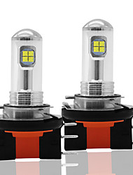cheap -2pcs CAR Car LED h15 8SMD 2525 Fog Lights Bulbs 12V DRL Daytime Running Auto Reversing Lamp Bulbs 6000K Side Lights White