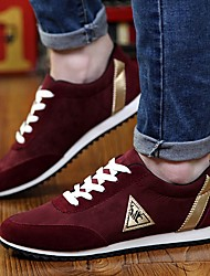 cheap -Men's Comfort Shoes PU Fall & Winter Sneakers Black / Red / Blue