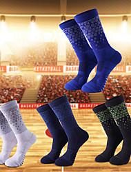 cheap -Compression Socks Athletic Sports Socks Running Socks 1 Pair Women's Men's Tube Socks Socks Breathable Sweat wicking Comfortable Running Active Training Jogging Sports Color Block Chinlon White Black