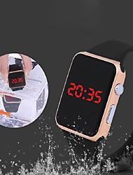 Недорогие -электронные часы Цифровой силиконовый Защита от влаги Светящийся Светодиодная лампа Цифровой Мода - Черный Белый Оранжевый