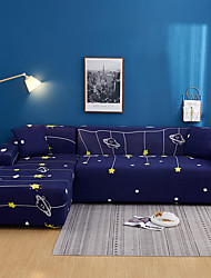 cheap -Cartoon Light Print Dustproof All-powerful Slipcovers Stretch L Shape Sofa Cover Super Soft Fabric Couch Cover with One Free Pillow Case