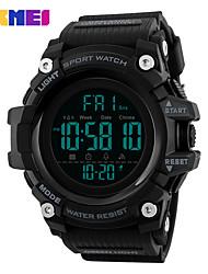 Недорогие -SKMEI электронные часы Цифровой Современный Спортивные силиконовый 30 m Защита от влаги Секундомер Фосфоресцирующий Аналоговый На каждый день Мода - Черный Черный / Синий Зеленый