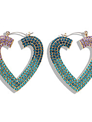 cheap -Women's Drop Earrings Earrings Dangle Earrings Geometrical Heart Luxury Holiday Romantic Cute Colorful Gold Plated Earrings Jewelry White / Champagne / Light Red For Wedding Engagement Gift Daily