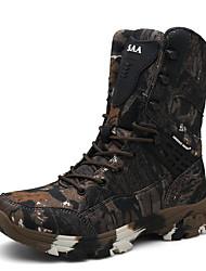 cheap -Men's Comfort Shoes PU Fall & Winter Boots Mid-Calf Boots Brown / Gray