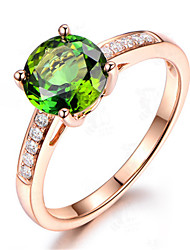 cheap -Women's Ring Chrome Diopside 1pc Rose Gold Platinum Plated Alloy Stylish Daily Jewelry Cute