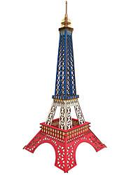 Недорогие -3D пазлы Пазлы Наборы для моделирования Башня Эйфелева башня Своими руками деревянный Натуральное дерево Железо Классика Детские Взрослые Универсальные Игрушки Подарок