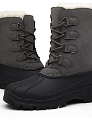 cheap -Men's Comfort Shoes Suede Winter Boots Booties / Ankle Boots Dark Grey