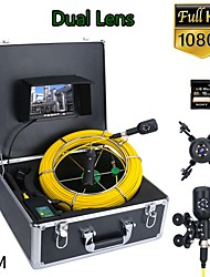 cheap -F7PD-2C-50M 7inch DVR 50M 1080P HD Dual Camera Lens Drain Sewer Pipeline Industrial Endoscope Pipe Inspection Video Camera