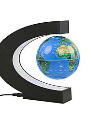 abordables -Lévitation magnétique chaude globe flottant en forme de C carte du monde lumières intelligentes pour le salon / étude / sécurité de la chambre / créatif / calme et muet 220 V