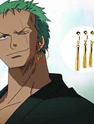 cheap -Jewelry Inspired by One Piece Roronoa Zoro Anime Cosplay Accessories Earrings ABS Alloy Men's Women's Hot Halloween Costumes