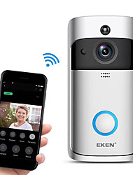 cheap -EKEN V5 Smart WiFi Video Doorbell Camera Visual Intercom With Chime Night vision IP Door Bell Wireless Home Security Camera