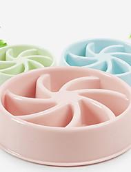 cheap -L Cat Dog Bowls & Water Bottles Feeders Pet Bowls & Feeding Waterproof Portable Green Blue Pink