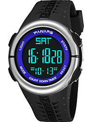 cheap -SYNOKE Digital Watch Digital Sporty Stylish Outdoor Water Resistant / Waterproof Digital Black / Blue Black / Silver Black / Silicone / Calendar / date / day / LCD / Noctilucent / Large Dial