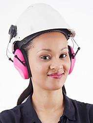 Недорогие -Защитные наушники-вкладыши huarui для наушников для стройплощадки Защитные наушники-вкладыши с переходниками для крепления на шлеме розового цвета