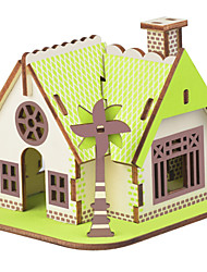 cheap -Jigsaw Puzzles Wooden Puzzles Building Blocks DIY Toys American Garden House 1 Wood Ivory Model & Building Toy