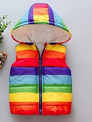 cheap -Kids Girls' Basic Color Block Vest Rainbow