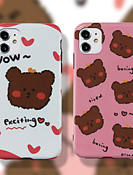 cheap -Apple scene picture iPhone 11 11 Pro 11 Pro max bear pattern IMD process TPU material precise hole position mobile phone case