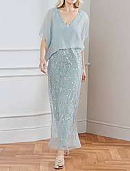 cheap -Short Sleeve Basic Chiffon Wedding Women's Wrap With Solid / Paillette