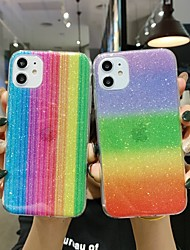 cheap -Case for Apple scene map iPhone 11 X XS XR XS Max 8 Glitter rainbow pattern acrylic backboard TPU frame 2-in-1 all-inclusive mobile phone case
