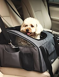 cheap -Dog Rabbits Cat Cages Carrier Bag & Travel Backpack Car Seat Cover Foldable Travel Durable Pet Nylon Fashion Gray Khaki