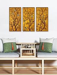 cheap -Framed Art Print Framed Set - Animals Floral / Botanical PS Oil Painting Wall Art