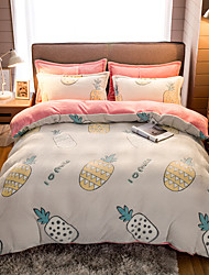 cheap -High Quality Snowflake Plush Comfortable Soft Warm Cartoon Printed Bed Set Luxury Soft Queen Duvet Cover Set