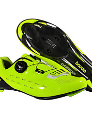 cheap -BOODUN Adults' Bike Shoes Road Bike Shoes Nylon Breathable Anti-Slip Mountain Bike MTB Road Cycling Cycling / Bike Black Green Men's Women's Cycling Shoes / Hook and Loop