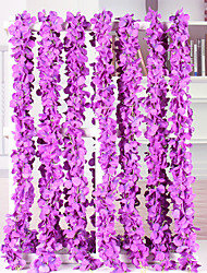 cheap -Artificial Flower Violet Rattan Home Wedding Party Decoration 1 Pack