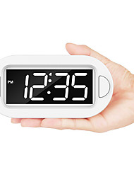 cheap -Small LED Digital Alarm Clock with Snooze Simple to Operate Full Range Brightness Dimmer Adjustable Alarm Volume Outlet Powered Compact Clock for Bedrooms Bedside Desk