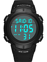 cheap -SYNOKE Digital Watch Digital Sporty Stylish Outdoor Water Resistant / Waterproof Digital Black Gold Green / Silicone / Calendar / date / day / LCD / Noctilucent / Large Dial