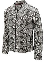 abordables -Homme Sports / Anniversaire Printemps été / Automne hiver Normal Veste de cuir, camouflage Mao Manches Longues Polyuréthane
