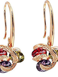 cheap -Women's Earrings Hollow Out Flower Stylish Gold Plated Earrings Jewelry Gold For Gift Daily 1 Pair