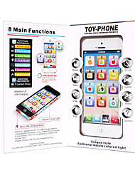 cheap -HS-WS2922A-USB Toy Phone Educational Toy Learning Pad Y-phone Touch Screen Rechargeable Cool Simulation Parent-Child Interaction Music & Light with Screen Kid's Child's All 1 pcs Toy Gift