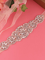 cheap -Satin Wedding / Party / Evening Sash With Imitation Pearl / Belt / Appliques Women's Sashes