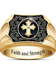cheap -Men Ring Geometrical Gold Gold Plated Cross Fashion 1pc 8 9 10 11 12 / Men's
